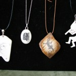 4 assorted pendants